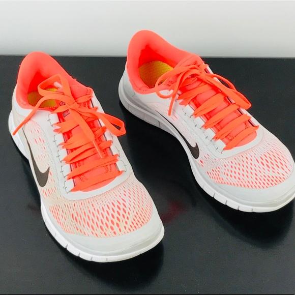 Nike Gray Orange Ladies Tennis Shoes 7